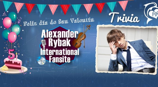 Trivia del 5° aniversario de Alexander Rybak International Fansite